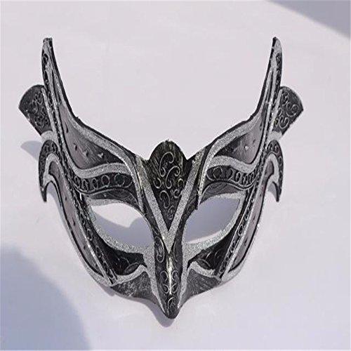 Mens Frau Masken Prinzessin Maskerade Maske Halloween Weihnachten griechische Party Maske, Karnevals Maske, silbrig (Kinder Die Volle Batman Maske)