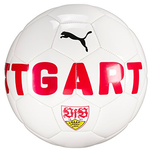 PUMA Vfb Stuttgart Fan Ball, Puma White-Ribbon Red, 5 (Ball Fußball Puma)