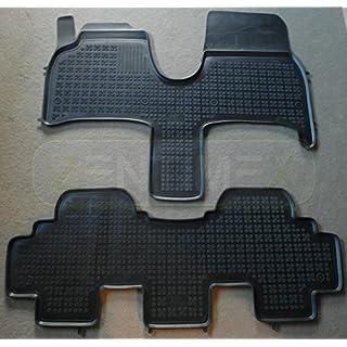 ZentimeX Gummifußmatten Gummimatten Schalenmatten für Citroen C8 2002- schwarz