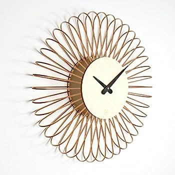 vitra 20125601 sunflower clock 750 mm birke schwarz quarz uhrwerk inklusiv 1 5 v batterie. Black Bedroom Furniture Sets. Home Design Ideas