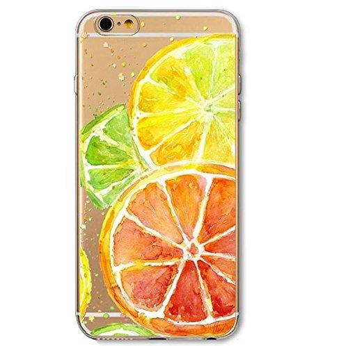 Coque en silicone souple pour iphone 5C Modèle petite pasteque coque citron 5C