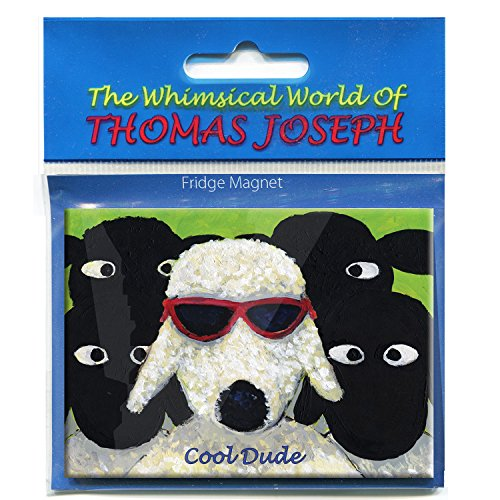 Irish Magnet With a Sheep Wearing Sunglasses with the Text 'Cool Dude'