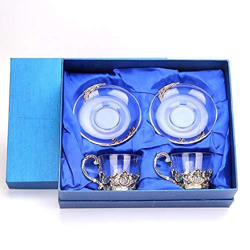 Mayanyan Klassische Glas Kaffee Tasse Schüssel Set kreative Emaille Tasse neue Blume Teetasse...