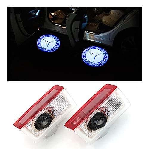 host Shadow Projektor Laser Willkommen Lichter für Mercedes-Benz Serie Symbol Emblem Höflichkeit Schritt Lichter Bodenlampe Kit (2 Pack) ()
