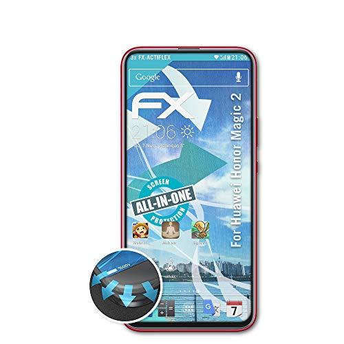 atFolix Schutzfolie passend für Huawei Honor Magic 2 Folie, ultraklare & Flexible FX Bildschirmschutzfolie (3X)