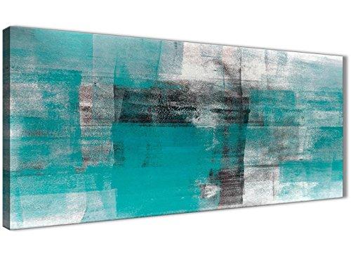 Wallfillers WTD mantiburi - Lienzo Decorativo (Pintado en Blanco, 1399-120 cm), diseño Abstracto