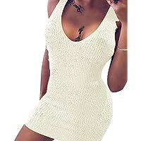 VIOY Suéter De Otoño E Invierno Sexy Tirantes Delgados Suéter Falda Regalo Knit Girlfriend,Blanco,SG