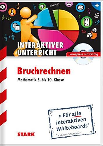 CD-ROM Whiteboard-Anwendung Bruchrechnen - Mathematik 5.-10.Klasse: Für alle interaktiven Whiteboards (auch für PC mit Beamer)