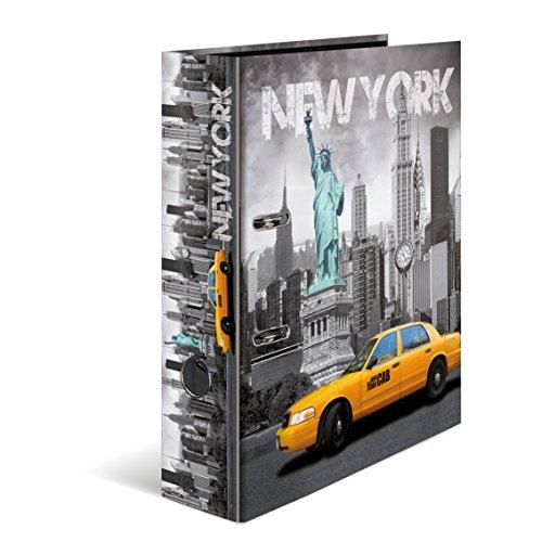 Herma 7171 Karton Motivordner DIN A4, Serie Städte, Design USA New York, 70 mm breit, 1 Ordner, mit Innendruck (Lander-tv-serie)