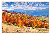 XXL Poster 100 x 70cm (F-217) Der Herbst hält Einzug im Gebirge die Bäume sind buntbelaubt und strahlen in feurig bunten Farben (Lieferung gerollt!)