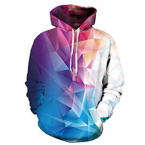 AMOMA Jungen digitaldruck Kapuzenpullover Tops Fashion Hoodie Pullover Hooded Sweatshirt ColorTriabgle