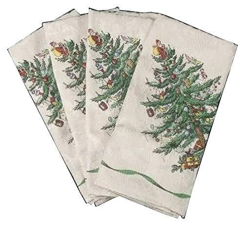 Spode Christmas tree-green Feinbau-Set von 450,8cm Stoff Serviette, Feines Porzellan Geschirr -