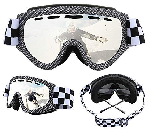 Aienid Fahrradbrille Beschlagfrei Silber Skibrille Winddichter Augenschutz Size:20.82X9.39CM