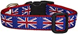 Up Country UNJ-C-L Union Jack Hundehalsband, Breit 1 inch, L
