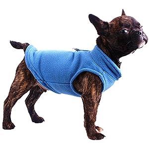 Gilet/harnais en polaire pour petit chien, différentes tailles et couleurs disponibles