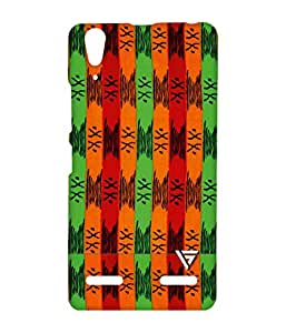 Vogueshell Line Pattern Printed Symmetry PRO Series Hard Back Case for Lenovo A6000