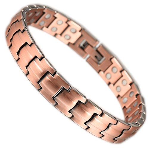 Therapie Magnetic Kupfer Armband für Frauen Wollet Schmuck Armband Doppel-Magnete