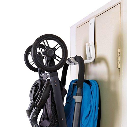Dreambaby Strollerbuddy STROLLAWAY® - Haken für die Lagerung von Kinderwagen / Buggys (Farbe: Weiß)