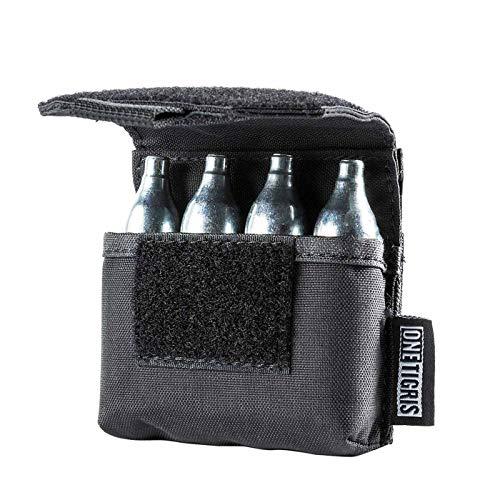 OneTigris 4-in-1 Co2 Kapseln Tasche Magazintasche Nylon Magazinbeutel für Softair Paintball Luftpistolen oder Luftgewehre |MEHRWEG Verpackung -