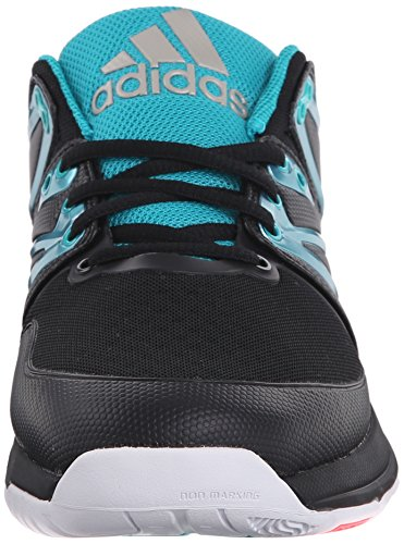 Adidas Stabil Boost Volley scarpe, nucleo nero / calzino verde / bianco, 6 M Us Core Black/Sock Green/White