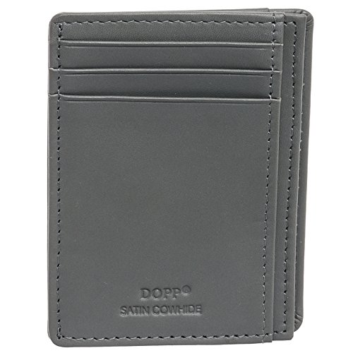 Dopp Leather Regatta 88 Series Front Pocket Getaway Wallet (Grey) -