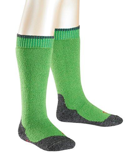 FALKE Active Warm + Kinder Kniestrümpfe rugby green (7741) 19-22 mit anatomischer Passform