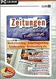 Zeitungen selbst gestalten und drucken - Professional / CD-ROM für Windows 98/Me/XP -