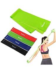 Yoassi Bande Élastique de Fitness d'Exercice de Eésistance pour Yoga / Exercices / Fitness / Musculation / Rééducation