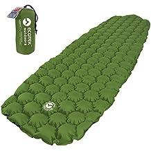 Ecotek Outdoor Hybern8 Ultraleicht Aufblasbares Schlafunterlage für Wandern Rucksackreisen und Camping – Konturierte Flexcell Design – Perfekt für Schlafsäcke und Hängematten (immergrün)