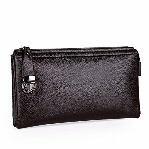 HTB Mode Homme Sac à Main Affaires Loisirs Grande Capacité Portefeuille Multi-Carte Téléphone Mobile Marée Mâle Paquet