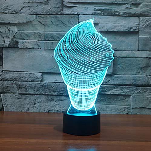 Acryl Hause Nacht Led Usb Touch Nachtlicht Schreibtisch Tisch Haus Dekor 7 Farbwechsel Junge Kid Spielzeug Tragbare Visuelle 3D Eisform