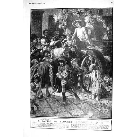 STAMPA FLOREALE PIACEVOLE DELL'OGGETTO D'ANTIQUARIATO DI 1921