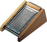 Alessi - Rallador de acero y madera de cerezo (7,5 cm)