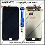 LAYCANZ for Oppo F1S, A59, A1601 Black TFT Display & Touch Screen Digitizer Assembly + Aluminium 5in1 Tools..