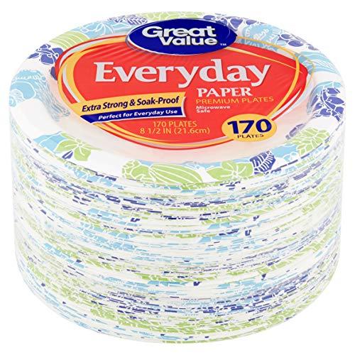 Pappteller für den täglichen Gebrauch, 20 cm, 170 Stück -