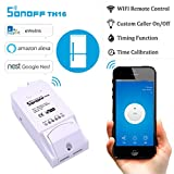 Jaminy Sonoff TH16 Temperatur-Feuchtigkeitsüberwachung WiFi Smart Switch Smart Home