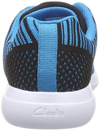 Clarks Kids Sprintknit Jnr, Baskets Basses garçon Bleu (Blue Combi)