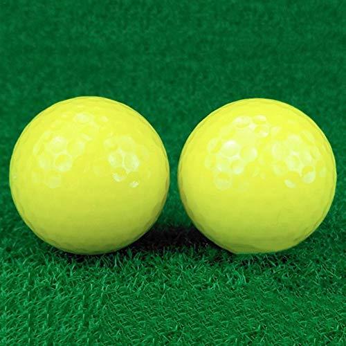 Luckybaby Golfbälle 2 Stück , Doppelschichtball | Golf Fluorescent Night Ball | Für Nachttraining Glow in Dark Hellglänzender Golf Blitzlicht Distanzkugeln Schießen