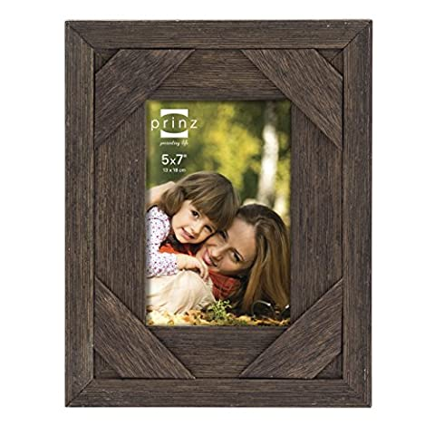 Prinz Barnes Antique Distressed Barnwood Frame, 5 by 7-Inch,