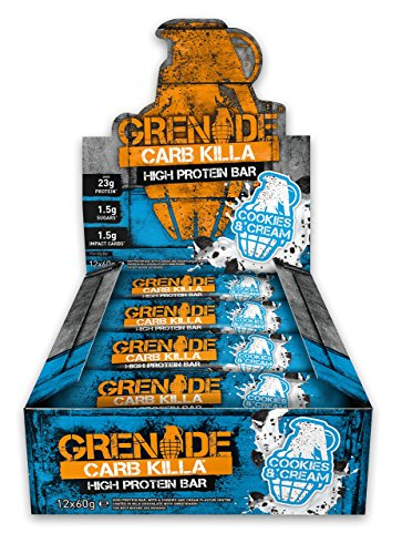 Grenade Carb Killa High Protein and Low Carb Bar, 12 x 60 g - Cookies and Cream Test