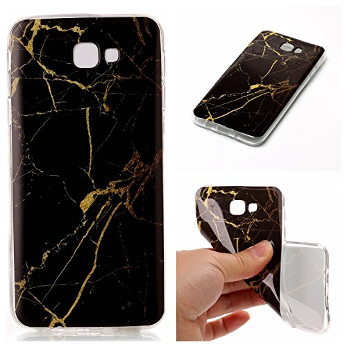 Linvei Samsung Galaxy J5 Prime Hülle Silikon, Soft Silikon TPU Marmor Handyhülle für Samsung Galaxy J5 Prime/Samsung Galaxy On5 2016 - A9
