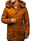 BOLF Herren Winterjacke Parka Casual Style John Ricci R109 Camel XXL [4D4]