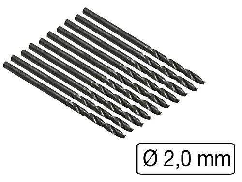 10 Stück HSS-Bohrer Metall 2 mm