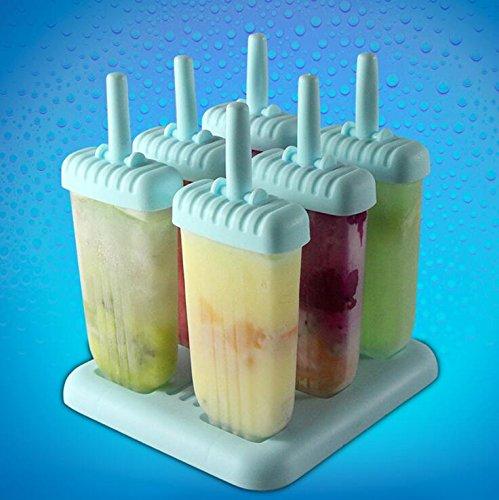 Btacy 6 PC Design Ice Cream Pop Formen Maker Formen Jelly Pop Mold Maker (Eis-box Pc)