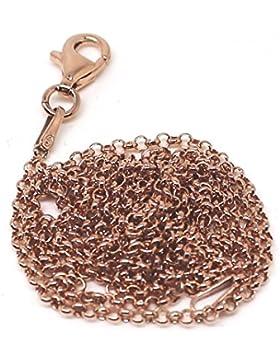 Erbsenkette rosevergoldet in 925er Sterling Silber
