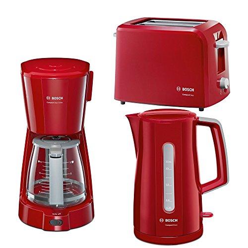 Frühstücksserie Bosch Compact Class im trendigen Rot 3 Teile=1Preis