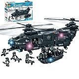 Forweilai SWAT Minifigur Set, Polizei Spielzeug Militär Figur für Kinder