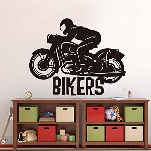Fengdp Motorradrennfahrer Wandaufkleber Kunst Zitat Vinyl Aufkleber Für Auto Träumer Dekoration Zubehör 55 * 44 cm (Auto-zubehör Kundenspezifische)