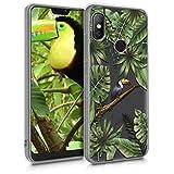 kwmobile Funda para Xiaomi Redmi 6 Pro/Mi A2 Lite - Carcasa de [TPU] para móvil y diseño de tucán en [Verde/Negro/Transparente]