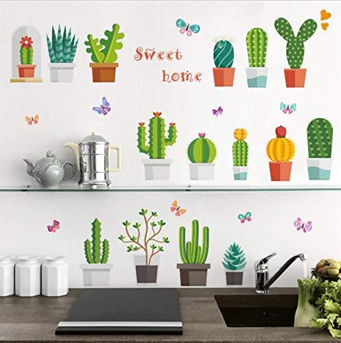 n Blume Schmetterling Pflanzen Wand 3D Aufkleber Kinderzimmer Fenster Küche Wandtattoo Kunst Wohnkultur Poster 30x90 cm ()